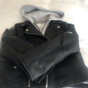 Other - Faux leather girls jacket